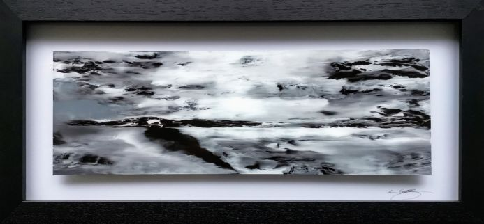 Northern Isles (Art on glass painting)