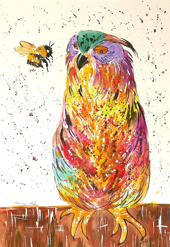 Bumblebee talking to a Colourful Owl
