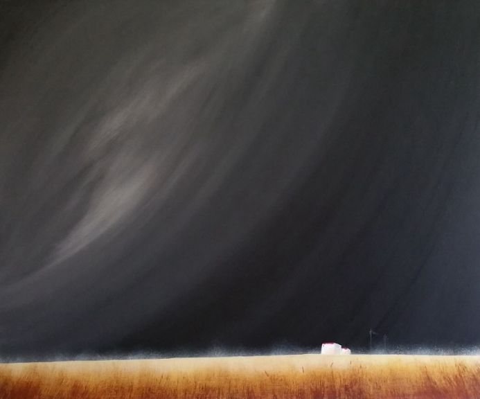 Storm Brewing- Acrylic On Stretched Canvas