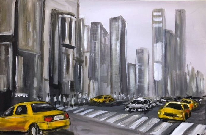 Yellow Cabs And Crossing