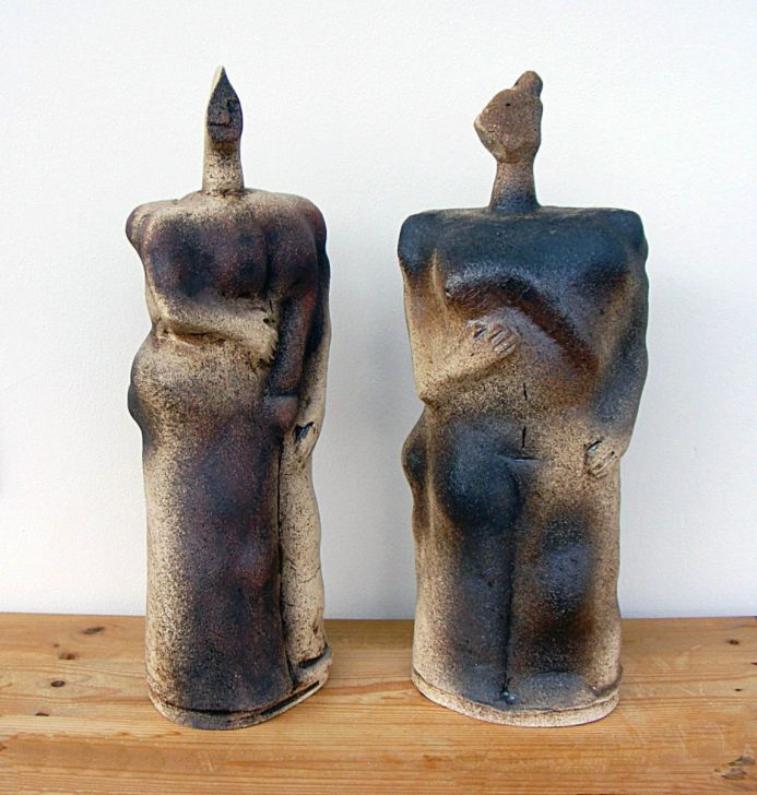 Giants - Fafner & Fasolt Ceramic Sculptures