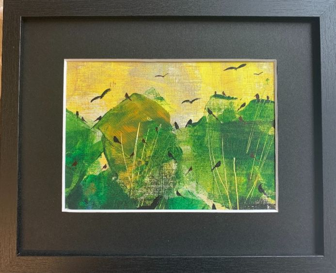 The Spring symphony - birds in the Greenwood. - original framed painting
