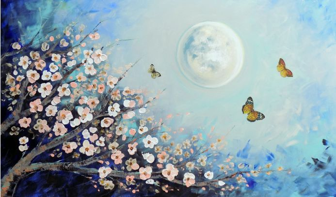 Full moon in the spring
