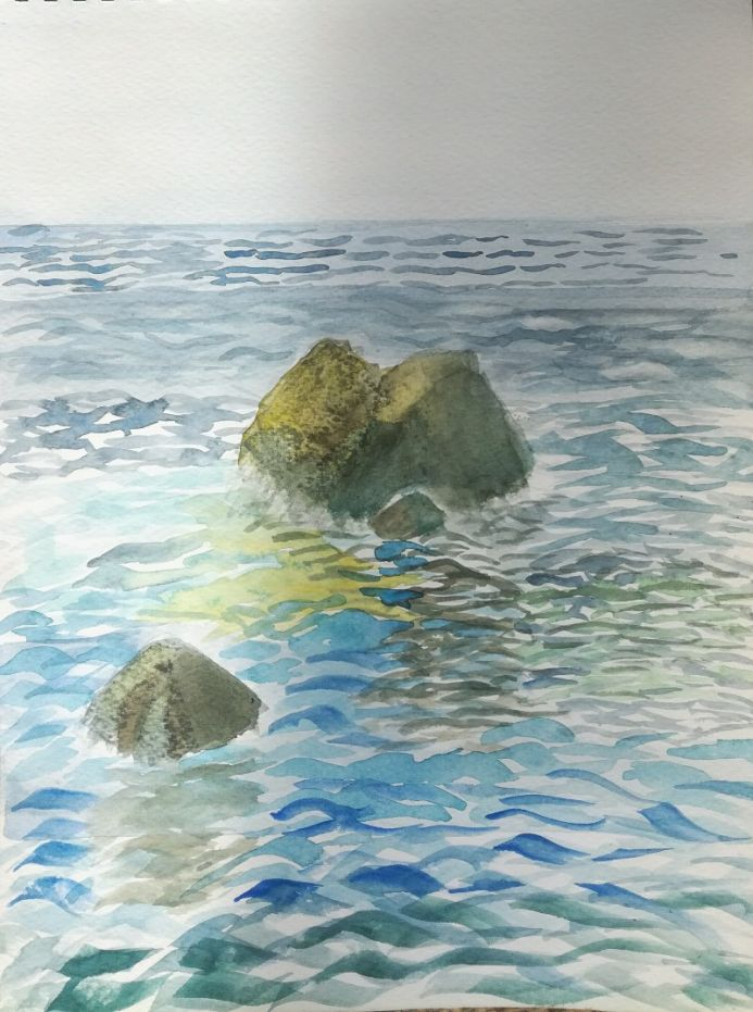 Lonesome rock in the sea