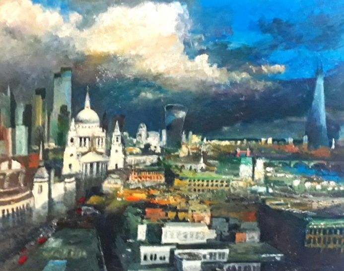 Stormy sky over St Paul's & the City