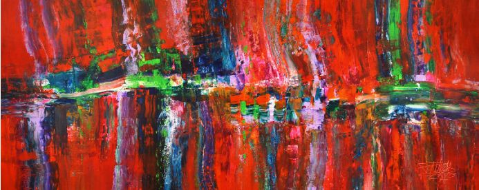 Slim: Deep Red Abstraction 1