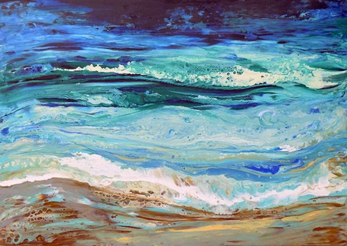 The sound of the sea - large modern abstract seascape