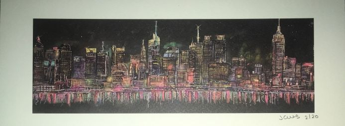 New York Skyline - Mini Limited Edition Print