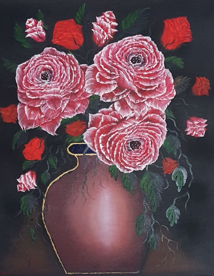 Dark and delicious roses