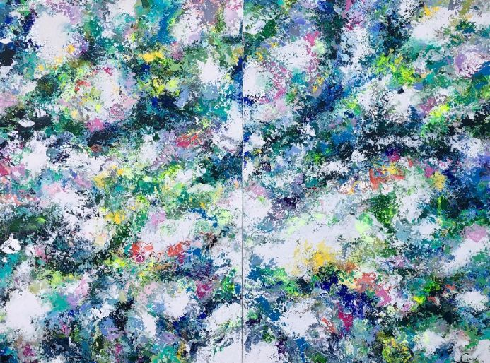 Colour my life - Extra large abstract painting XXXL