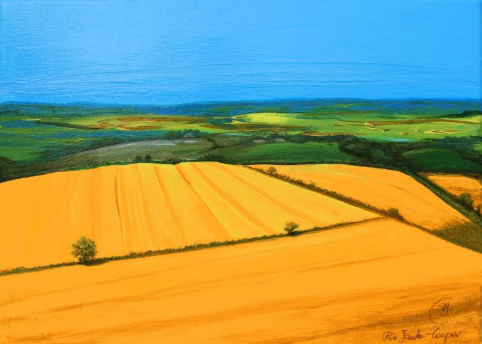 Yellow Summer Fields, painting by Rhia Janta-Cooper