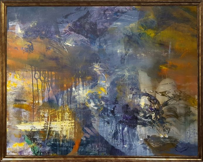 LARGE XL WHISPERING QUIETLY THROUGH THE EYES OF THE FALL FOREST ORIGINAL MINDSCAPE O KLOSKA