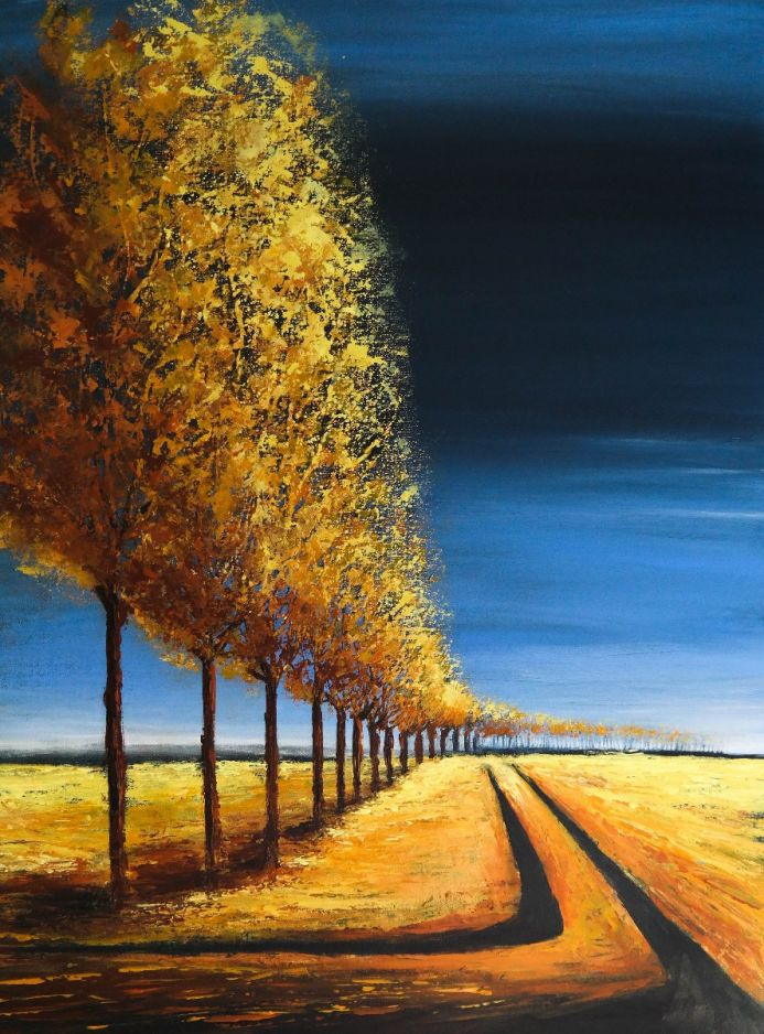 The Lines of Autumn III - Fields and Colors Series