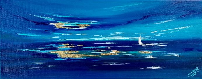 Moody Blue Series Nr 1. Abstract Seascape