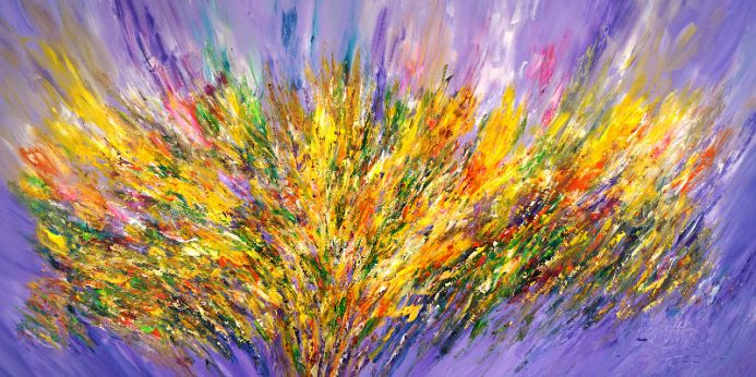 Violet Yellow Abstraction XXL 1