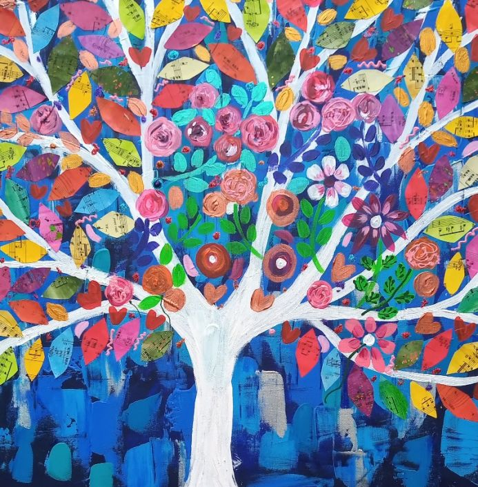 The Jewelled Tree in the Blue  Sky