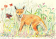 Entranced Fox Cub with Butterfly