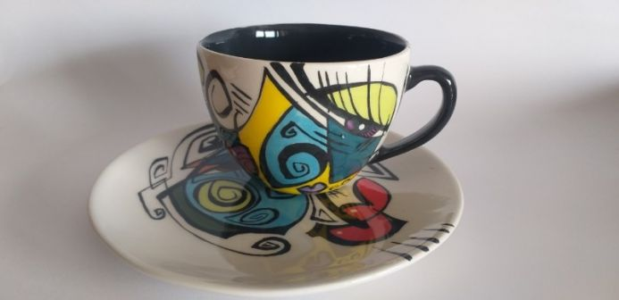 ENIGMA cups&saucers/ ROMINA