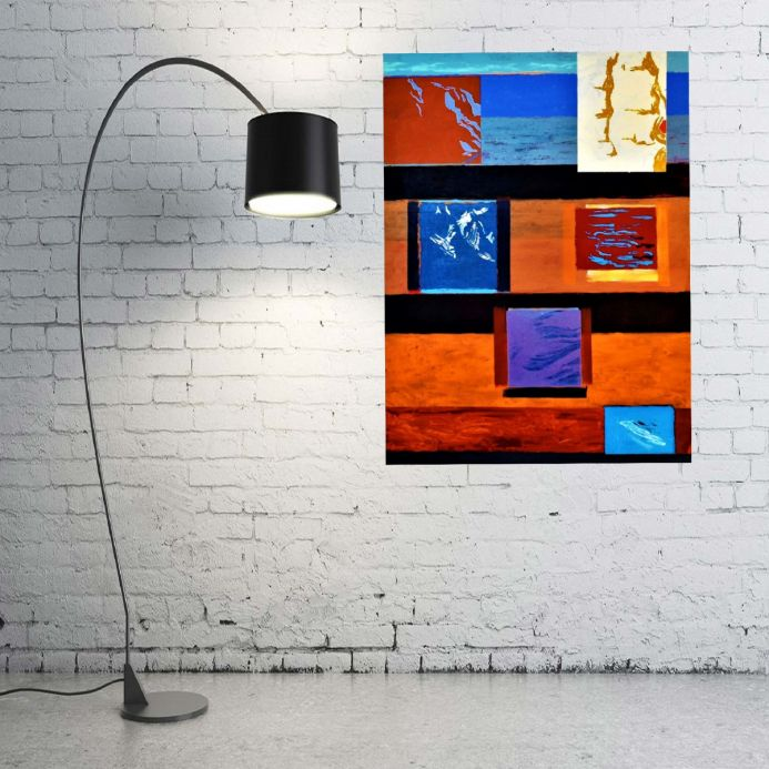 Large Abstract Painting on Canvas THE BURNING SUNSET