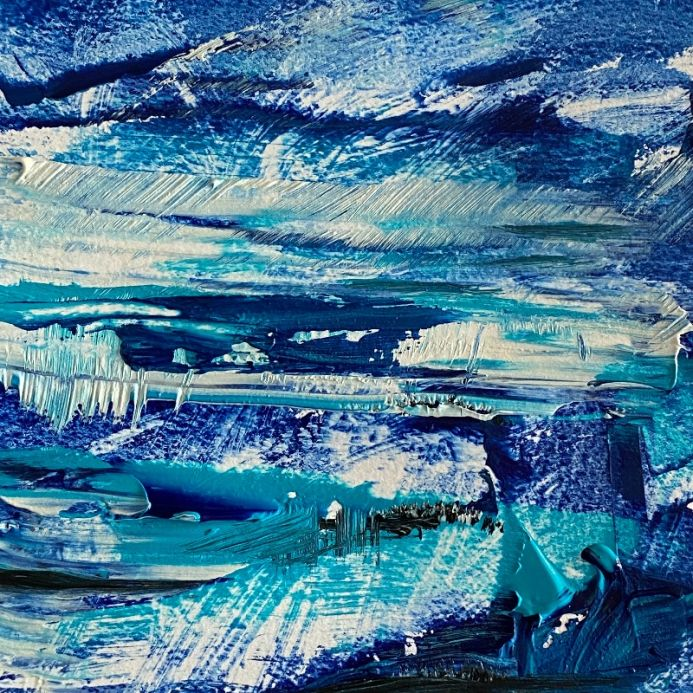 Blue Abstract Landscape 2