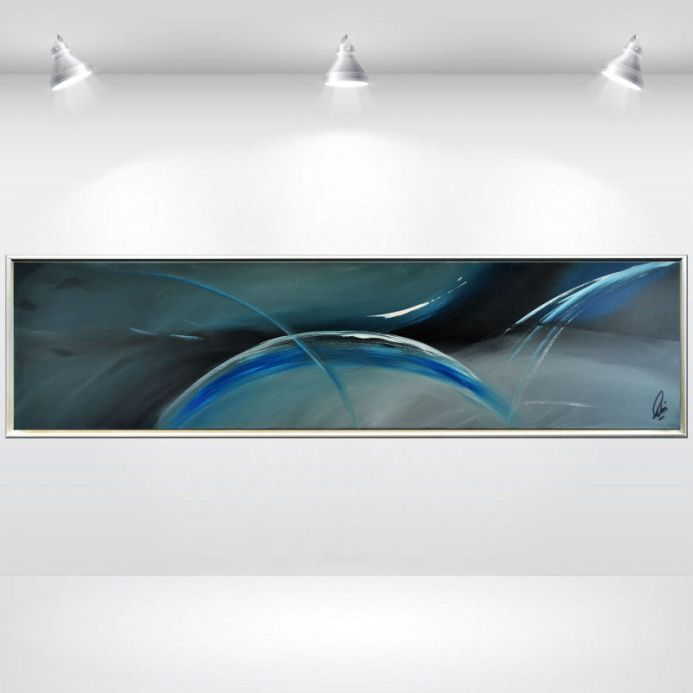 Blue Wings- Abstract Acrylic Artwork in Frame