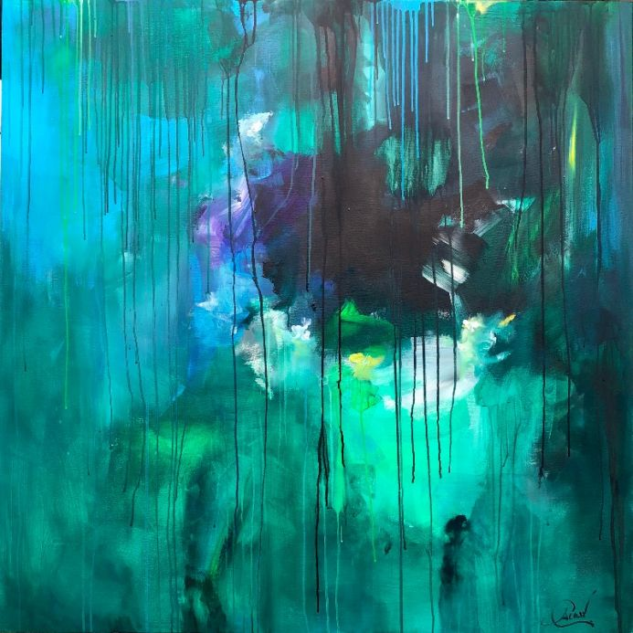 Take me away on a ocean wave - Extra large abstract paintings xxl art