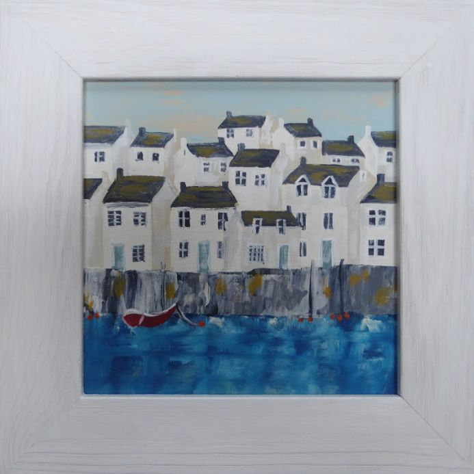 Mini harbour, red boat