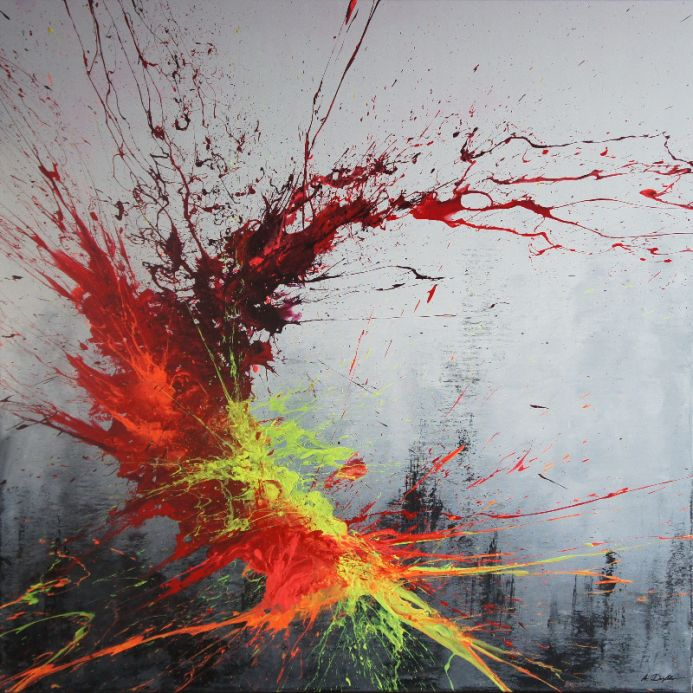 Twisting Fire II (Spirits Of Skies 100125) (100 x 100 cm) XXL (40 x 40 inches)