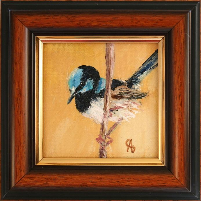 BIRD III. SUPERB FAIRYWREN / FROM MY A SERIES OF MINI WORKS BIRDS