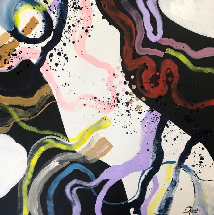 Connections - Extra large modern abstract paintings XXL art