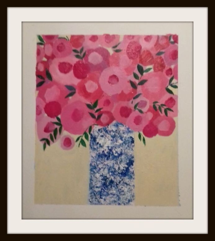 Pink Bouquet in a Chinese Vase