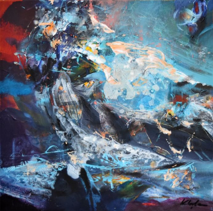 KLOSKA S PAINTINGS INVITE US TO SOLITARY JOURNEY TO A FASCINATING COLORS UNIVERSE