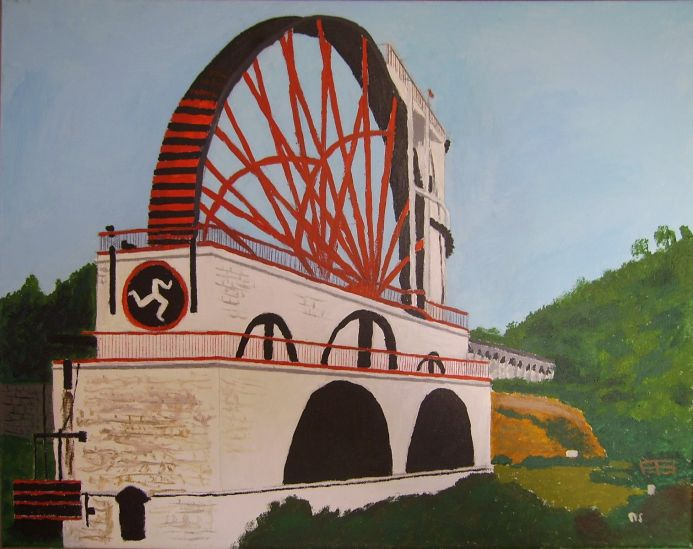 The Laxey Wheel, Isle of Man.