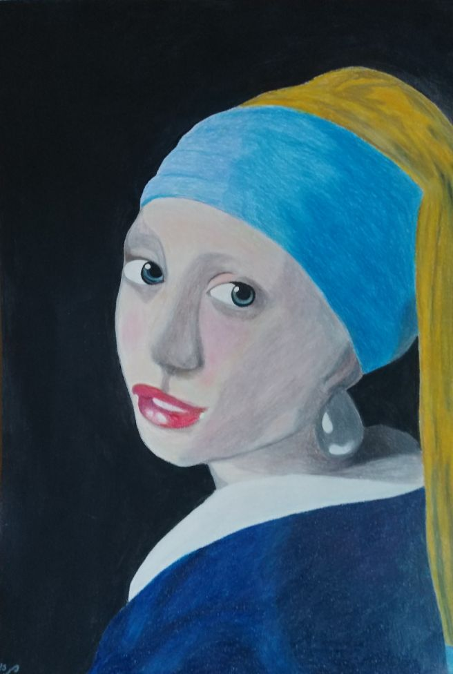 Girl with a pearl earring, an interpretation