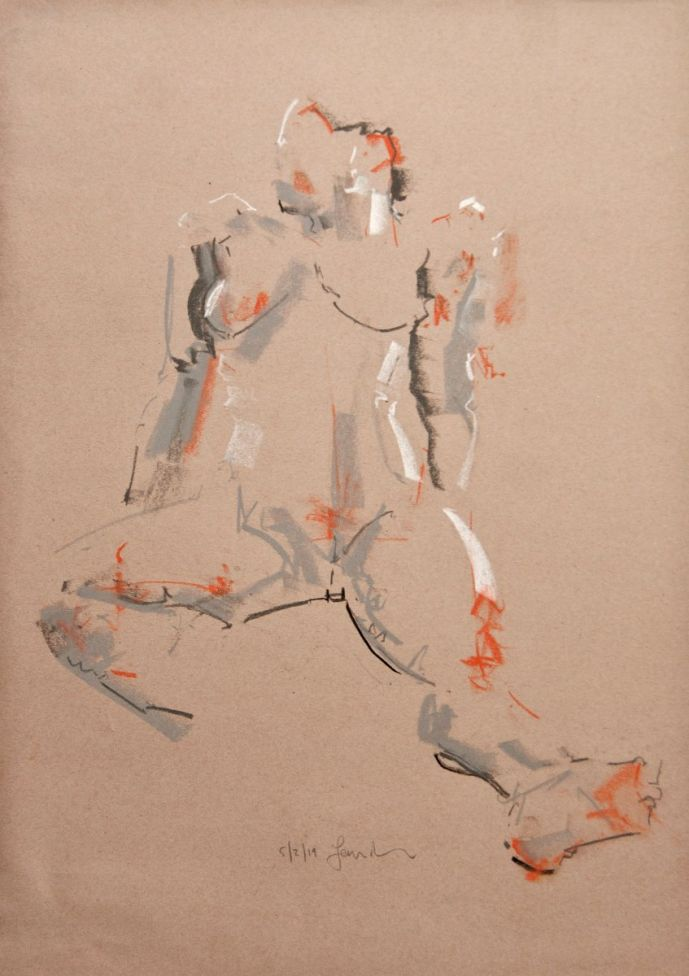 Study of the Female Nude -Life Drawing No 354