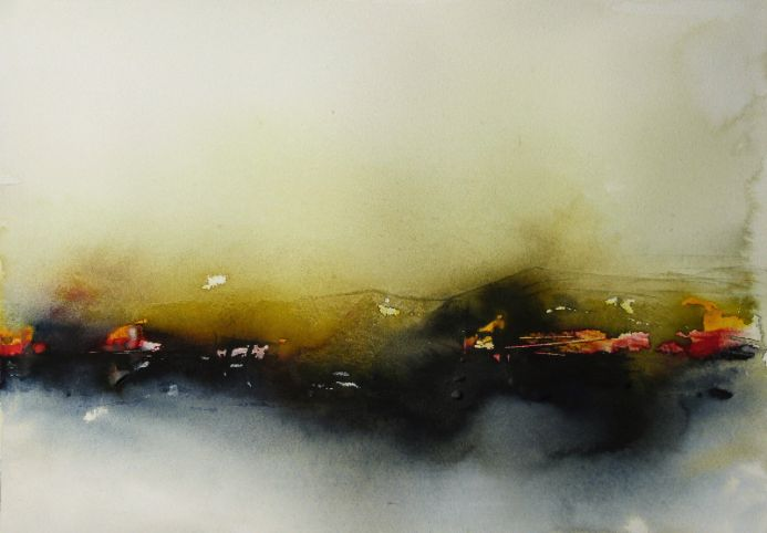 Somewhare, Nowhere. Abstract Watercolour.