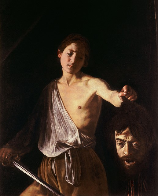 'David with the Head of Goliath' by Caravaggio