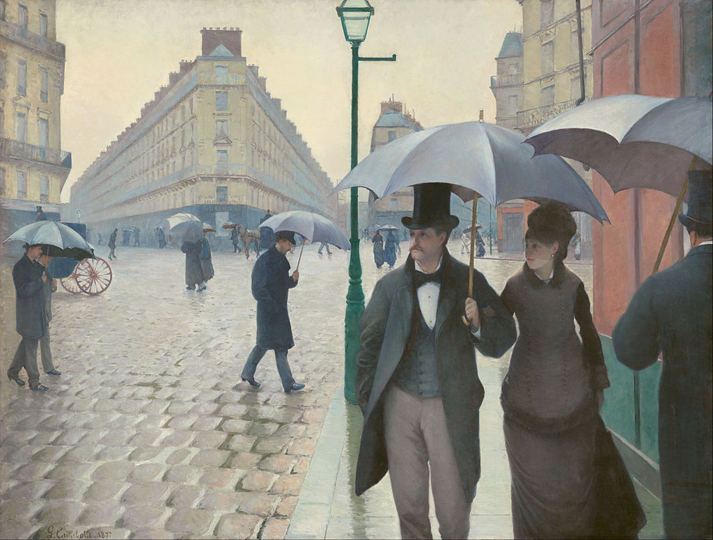 Paris Street; Rainy Day by Gustave Caillebotte