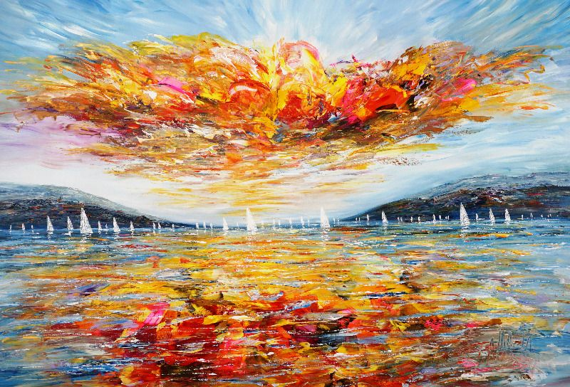 Sunday Sailing Impressions XL 2 by Peter Nottrott